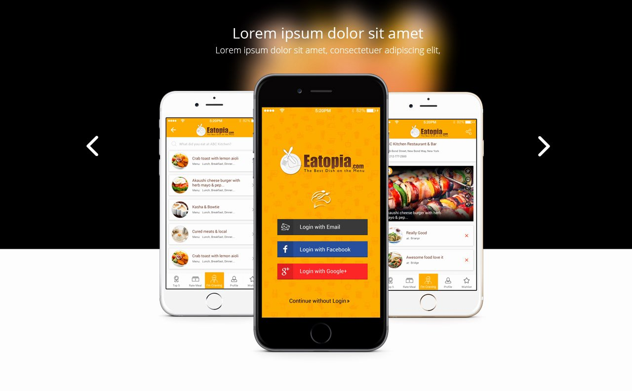 Mobile Landing Page Template Awesome Responsive Mobile App Landing Page Template