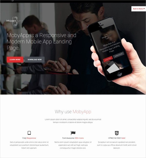 Mobile Landing Page Template Best Of 11 Mobile Landing Page themes & Templates