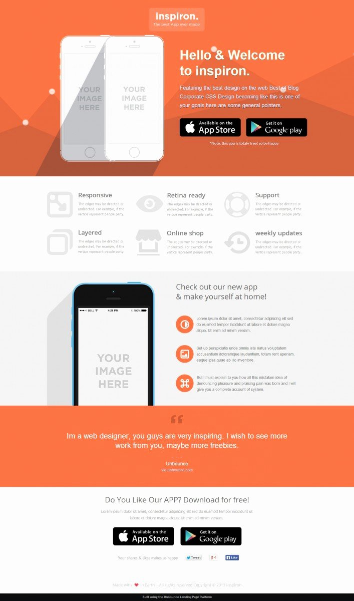 Mobile Landing Page Template Best Of 22 Best Unbounce Landing Page Templates Full Page Previews