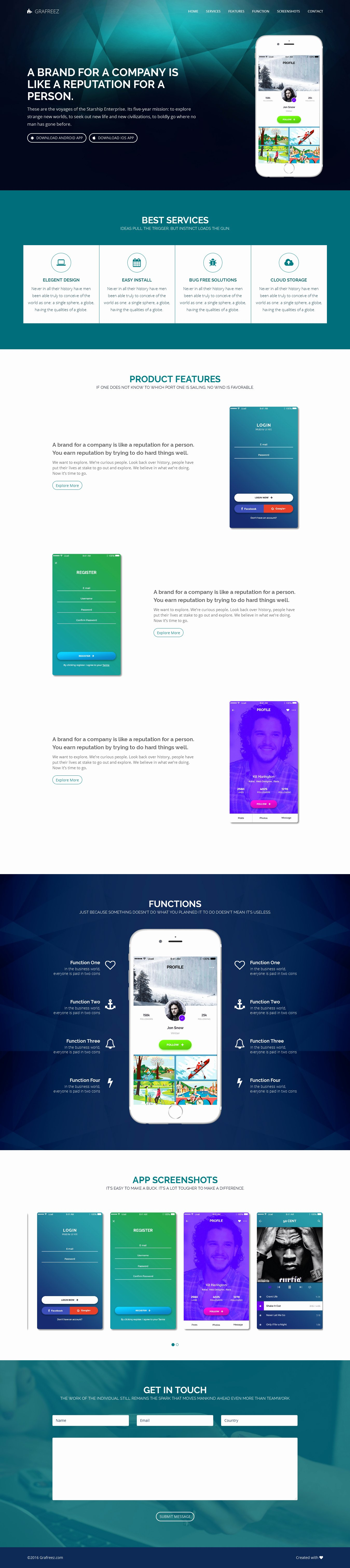Mobile Landing Page Template Best Of Light Free Mobile App Landing Page Template HTML by