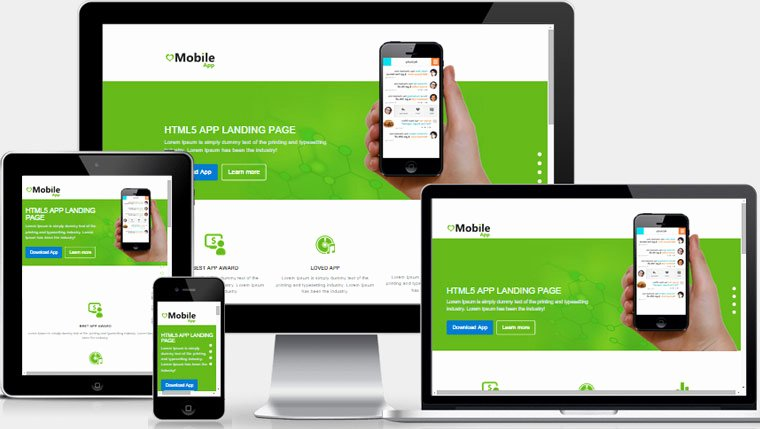 Mobile Landing Page Template Best Of Mobile App Landing Page Free Download
