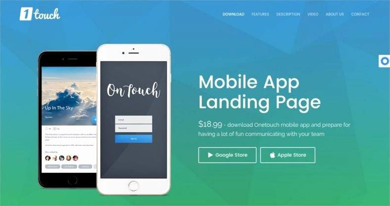 Mobile Landing Page Template Elegant 14 Best Mobile App Landing Page Templates