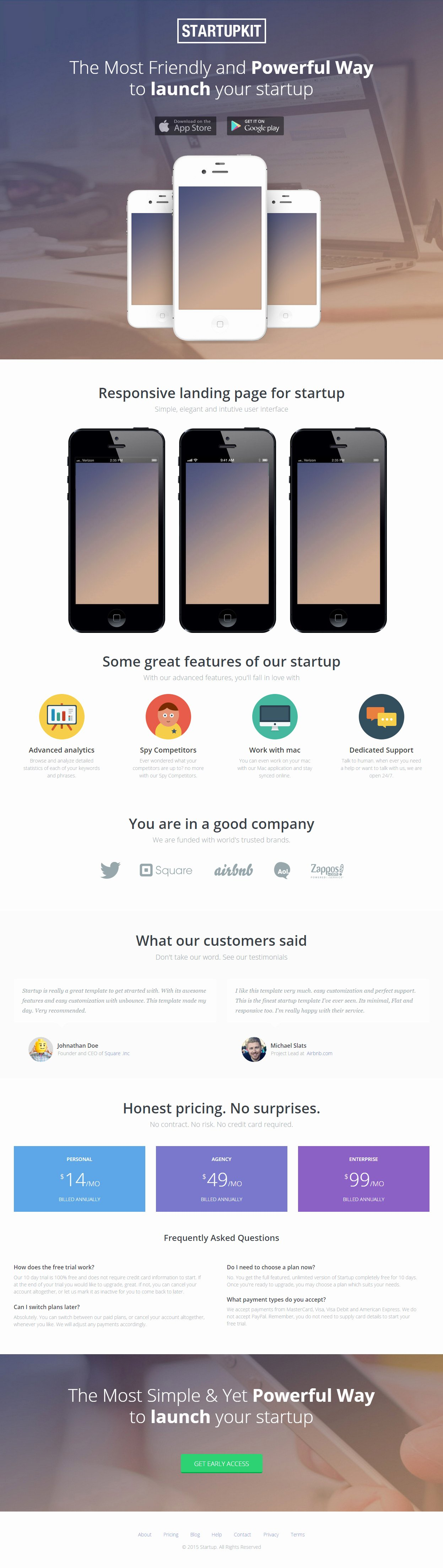 Mobile Landing Page Template Elegant 5 Best Muse Mobile App Landing Page Template 2017