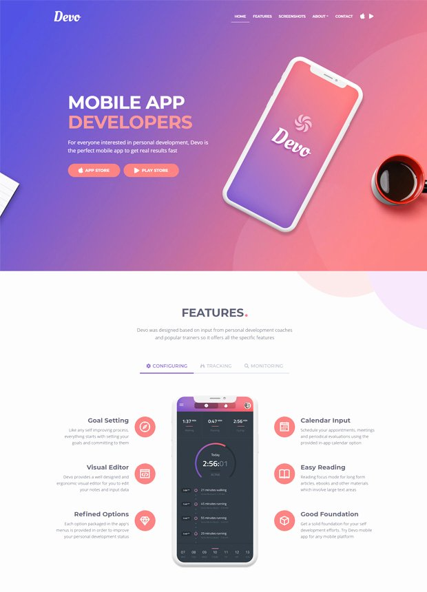 Mobile Landing Page Template Elegant HTML Landing Page Templates Inovatik