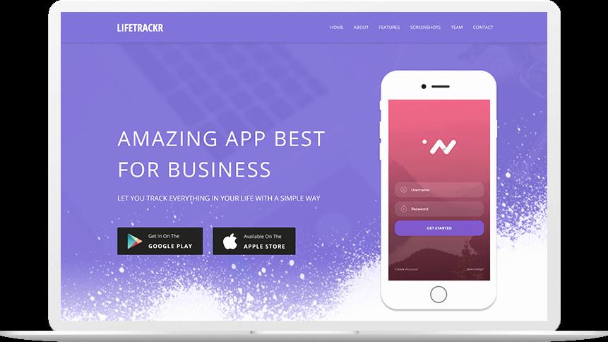 Mobile Landing Page Template Elegant Lifetrakr – Free App Landing Page Template themefisher