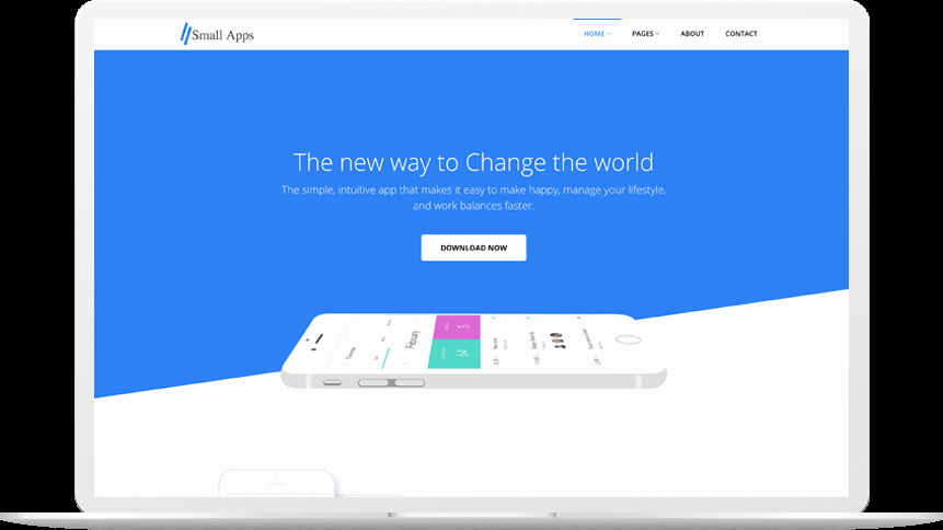 Mobile Landing Page Template Fresh Small Apps Free App Landing Page Template