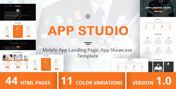 Mobile Landing Page Template Inspirational App Studio – Mobile App Landing Page App Showcase