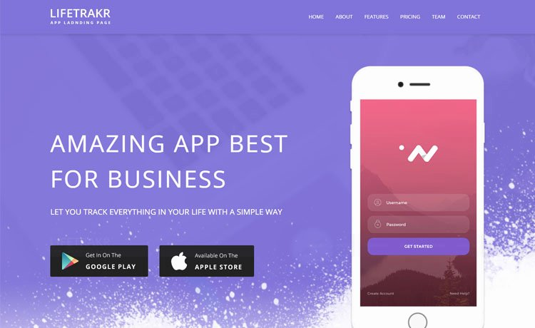 Mobile Landing Page Template Inspirational Free Responsive Bootstrap App Landing Page Template In 2017