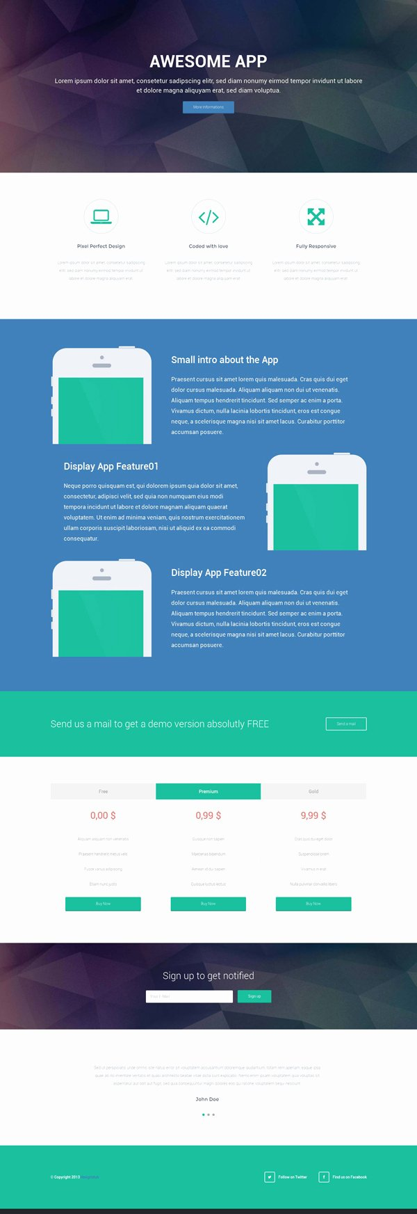 Mobile Landing Page Template Inspirational Responsive Landing Page HTML Template