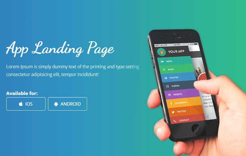 Mobile Landing Page Template Inspirational Smartnet Mobile App Landing Page Bootstrap Web Template