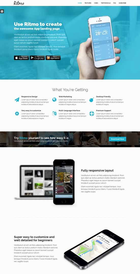 Mobile Landing Page Template Lovely 30 Free Responsive Landing Page Templates 2015