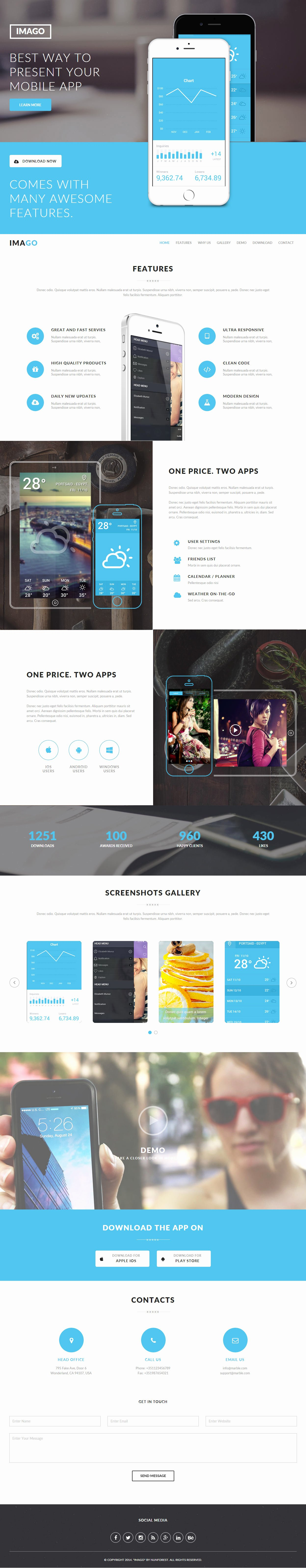 Mobile Landing Page Template Lovely 5 Best Muse Mobile App Landing Page Template 2017