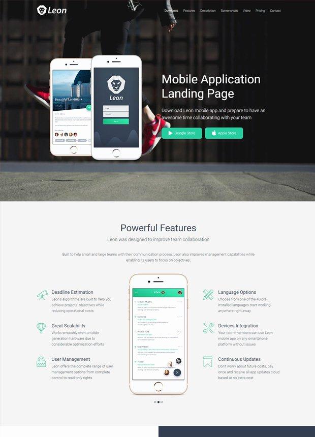 Mobile Landing Page Template Lovely HTML Landing Page Templates Inovatik