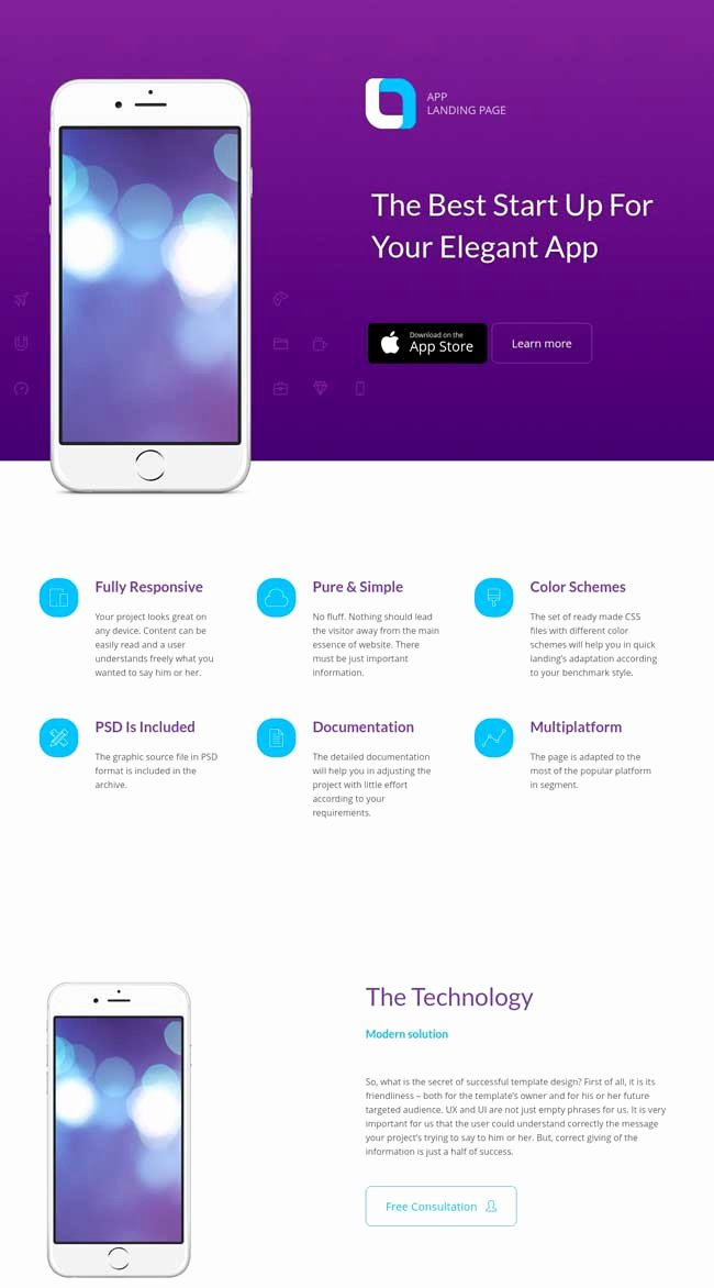Mobile Landing Page Template Luxury 20 Best Mobile App Landing Page Templates 2016