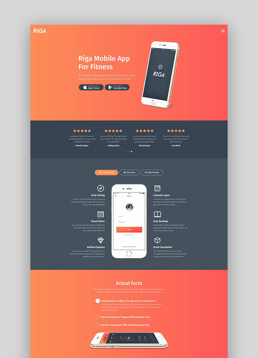 Mobile Landing Page Template New 20 Best Mobile App Landing Page Template Designs 2018