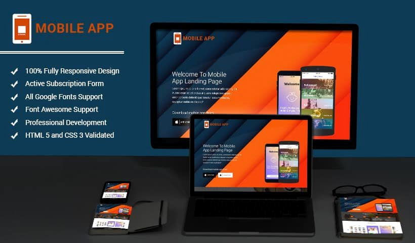 Mobile Landing Page Template New Mobileapps Responsive HTML Mobile App Landing Page