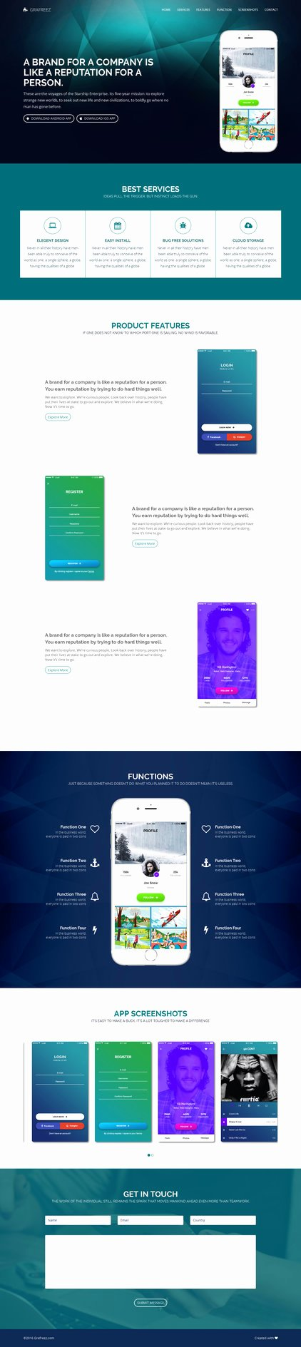 Mobile Landing Page Template Unique Light Free Mobile App Landing Page Template HTML by