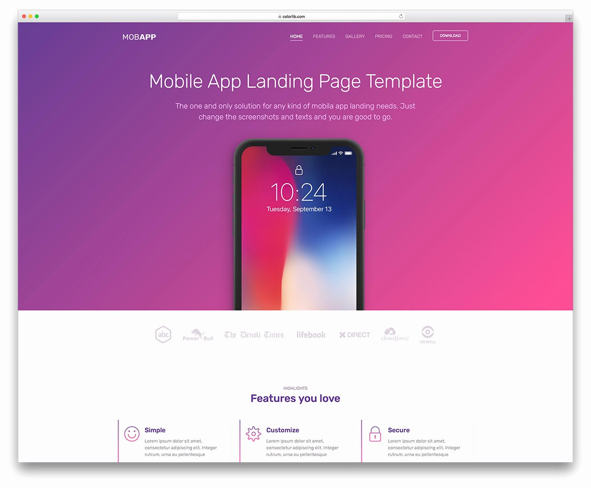 Mobile Landing Page Template Unique top 21 Free E Page Website Templates Built with