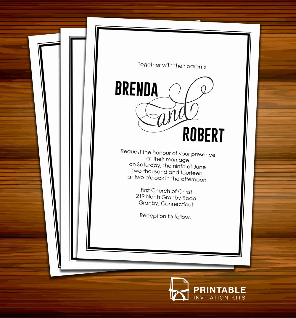 Modern Wedding Invitation Template Awesome Modern Calligraphy Wedding Invitation ← Wedding Invitation