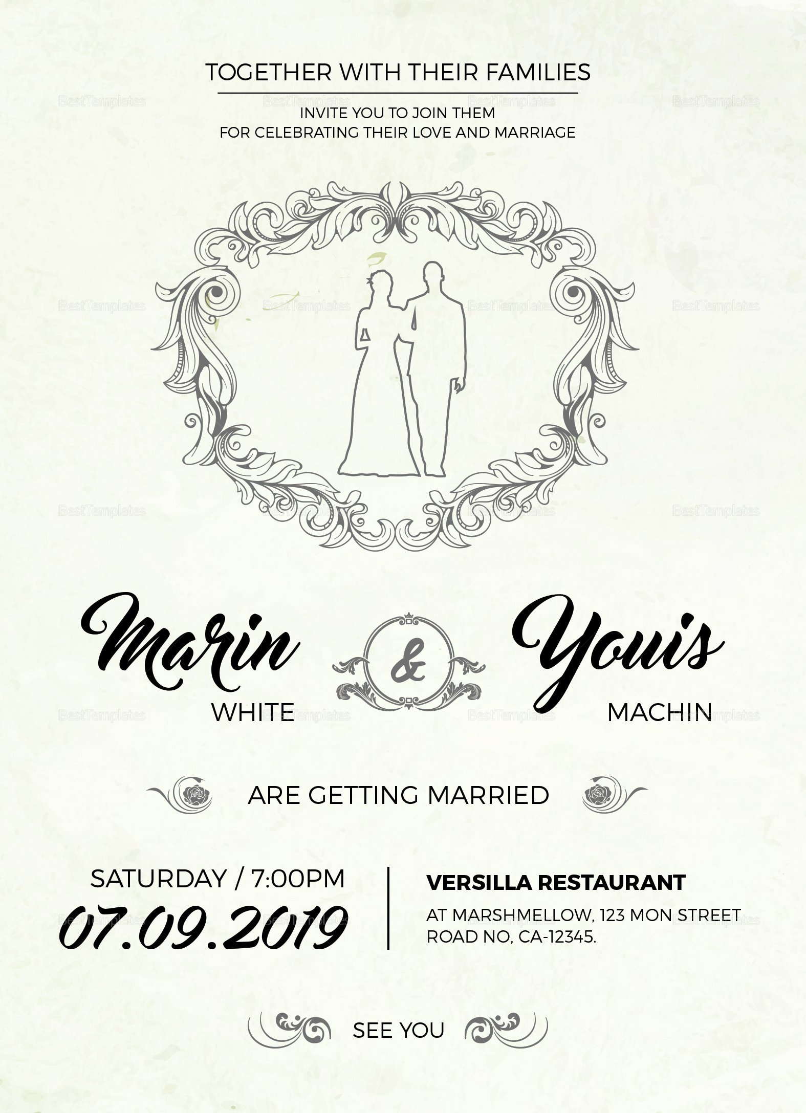 Modern Wedding Invitation Template Awesome Modern Wedding Invitation Design Template In Word Psd