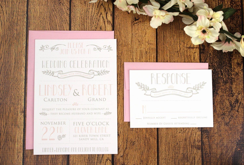 Modern Wedding Invitation Template Awesome Printable Vintage Modern Wedding Invitation Template