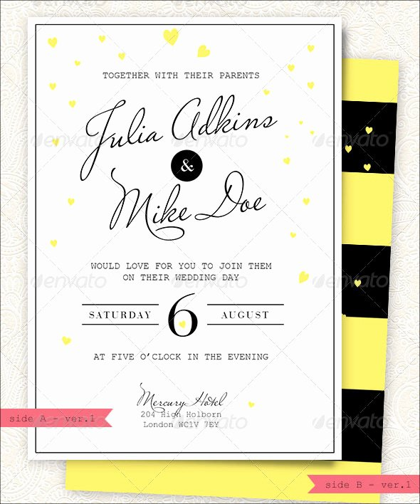 Modern Wedding Invitation Template Beautiful Modern Wedding Invitation 20 Psd Jpg Indesign format