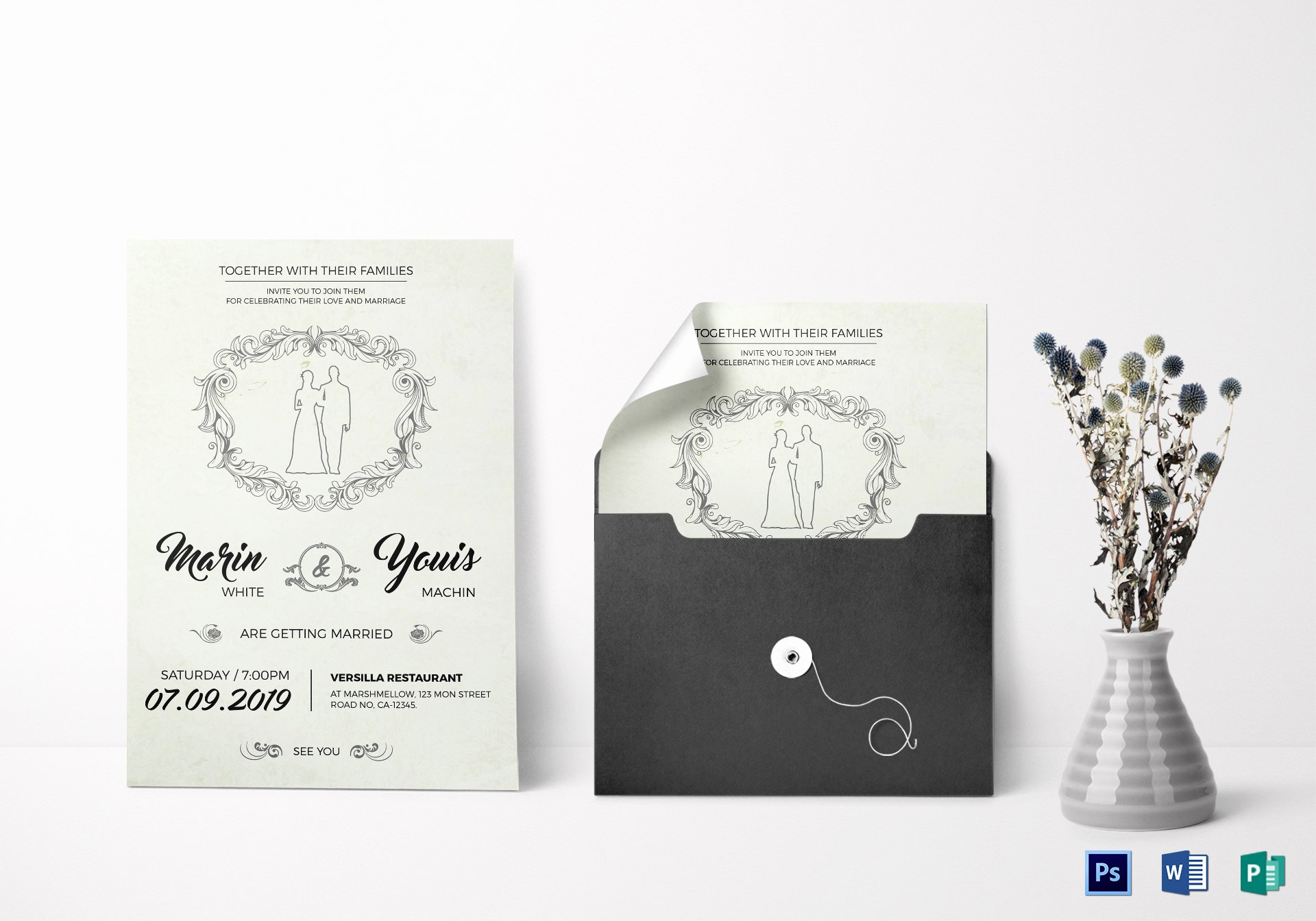 Modern Wedding Invitation Template Beautiful Modern Wedding Invitation Design Template In Word Psd