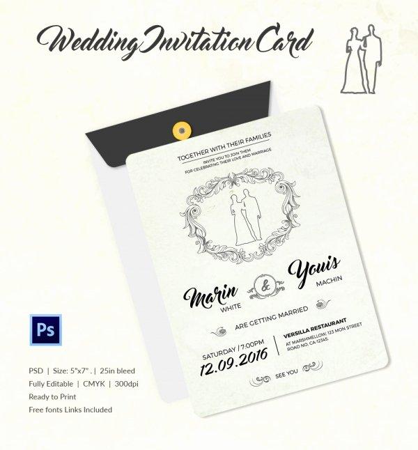 Modern Wedding Invitation Template Beautiful Wedding Invitation Template 71 Free Printable Word Pdf