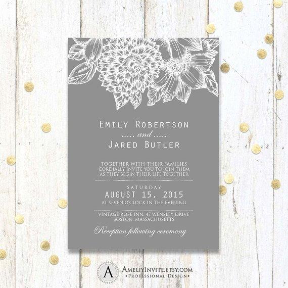 Modern Wedding Invitation Template Best Of Best 25 Wedding Invitation Templates Ideas On Pinterest
