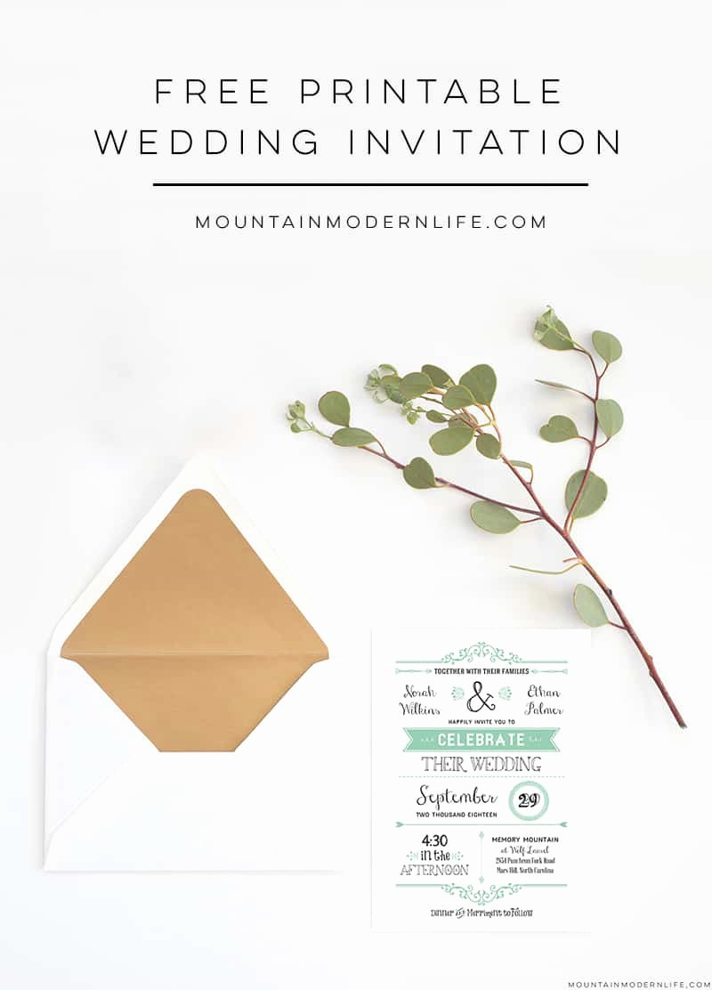 Modern Wedding Invitation Template Fresh Free Wedding Invitation Template