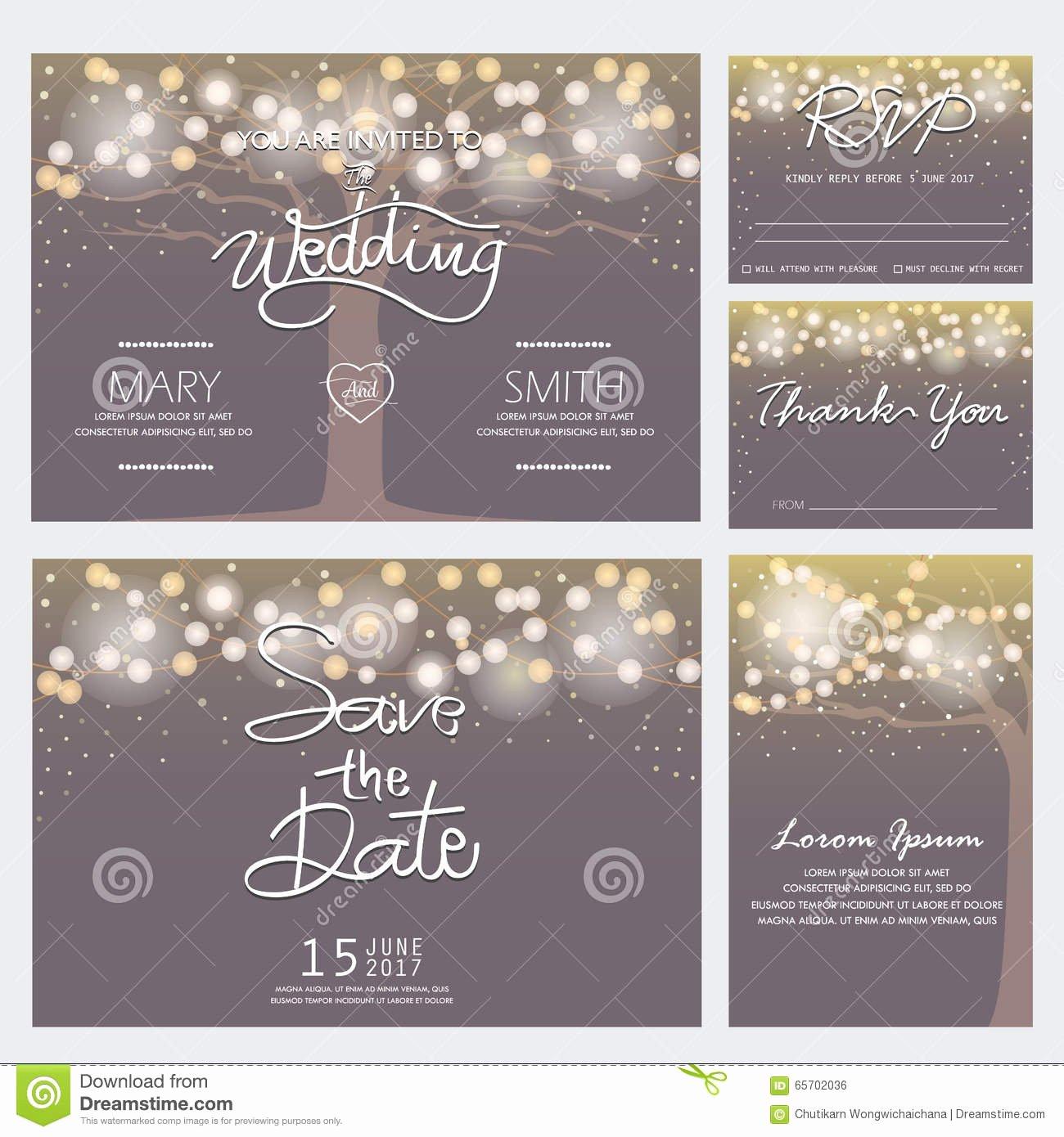Modern Wedding Invitation Template Lovely Modern Wedding Invitation Card Stock Vector Illustration