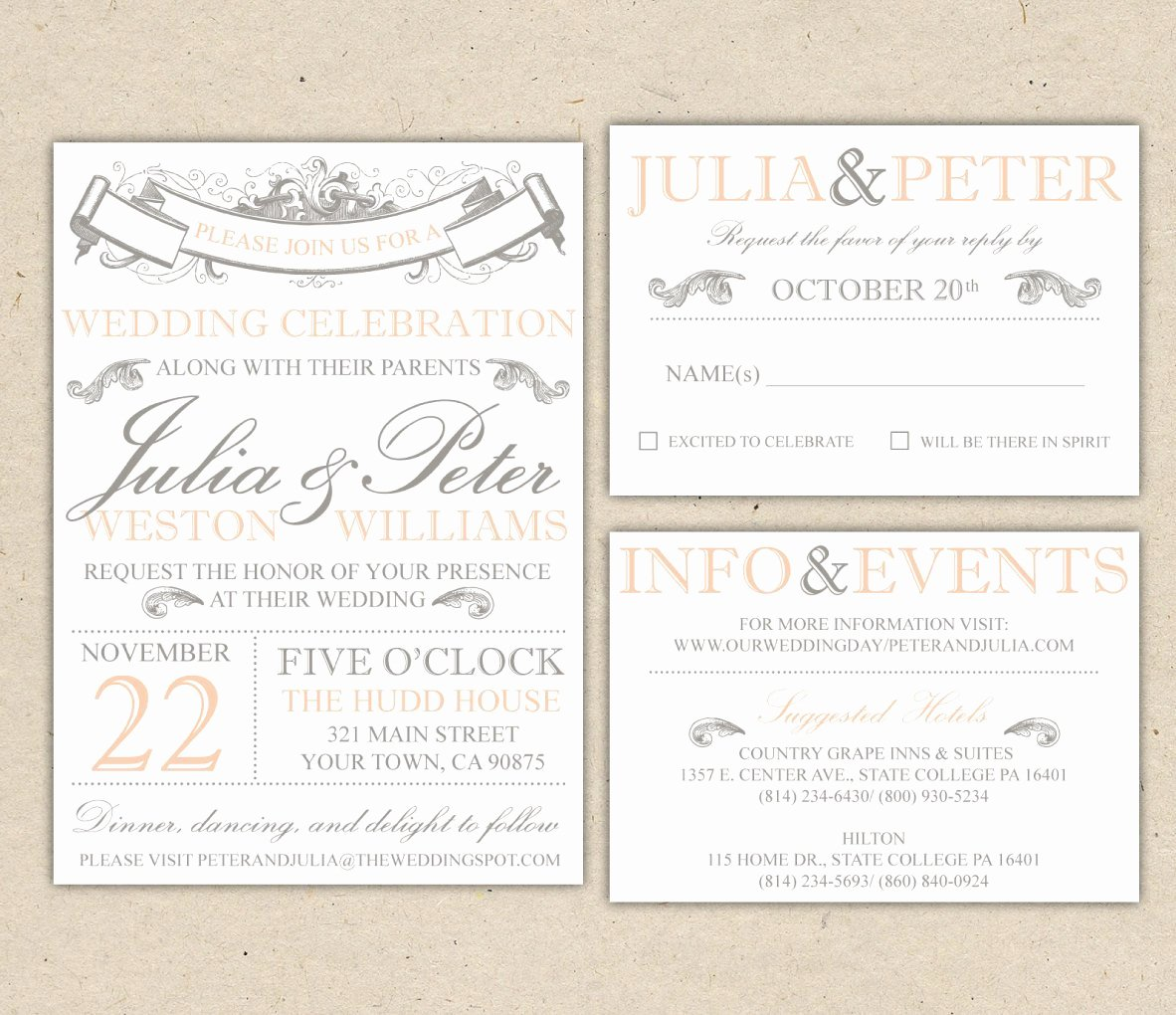 Modern Wedding Invitation Template Lovely Vintage Modern Wedding Invitation Prints Custom by