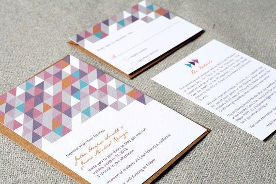 Modern Wedding Invitation Template Luxury Items Similar to Wedding Invitations Modern Geometric On Etsy