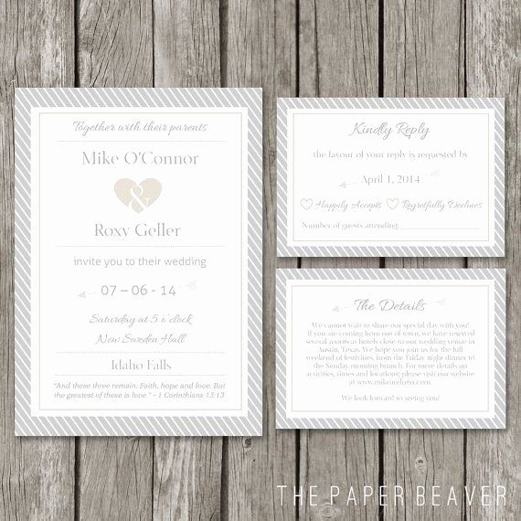 Modern Wedding Invitation Template Unique Diy Printable Wedding Invitation Template Modern Wedding