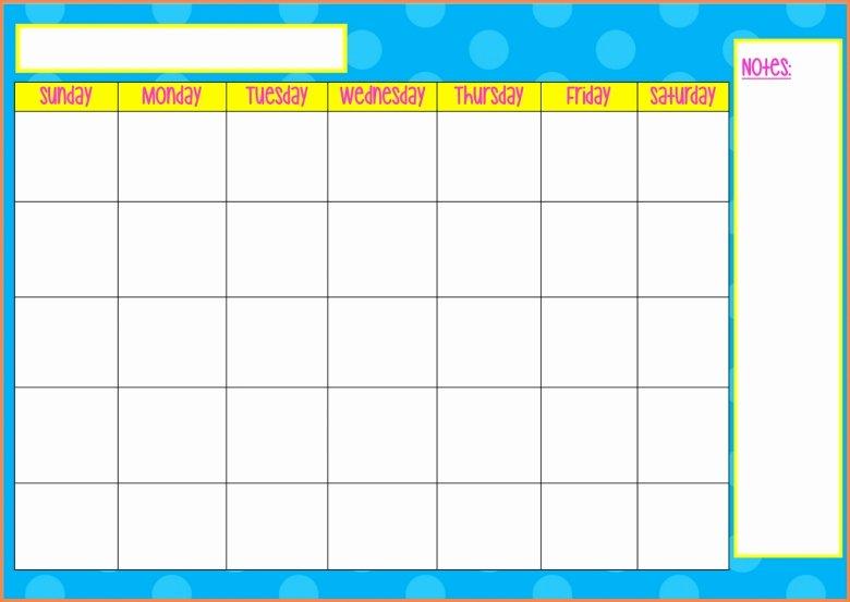Monday to Friday Schedule Template Elegant Blank Monday Through Friday Calendar Free Calendar Template