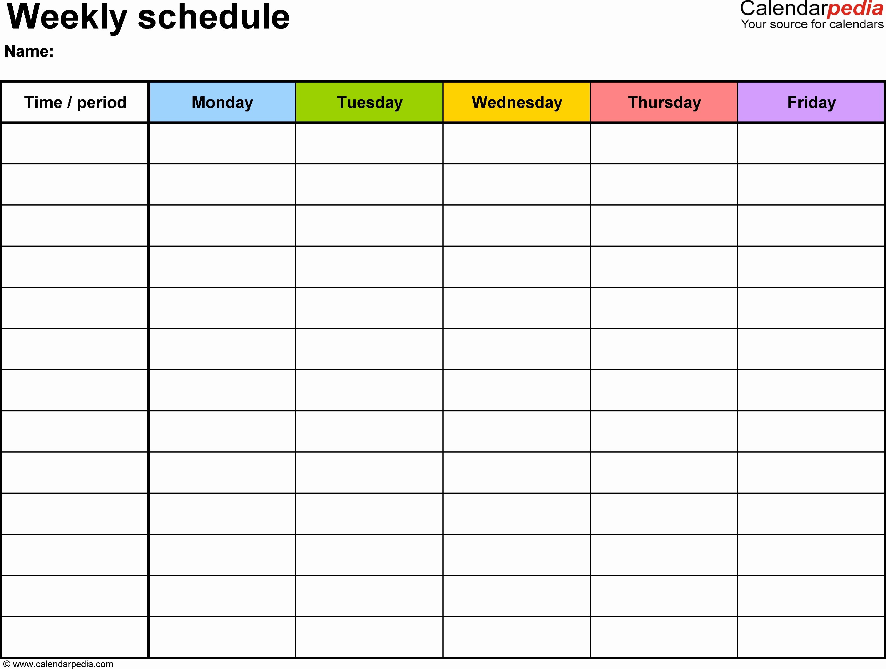 Monday to Friday Schedule Template Lovely Monday to Friday to Do List Template