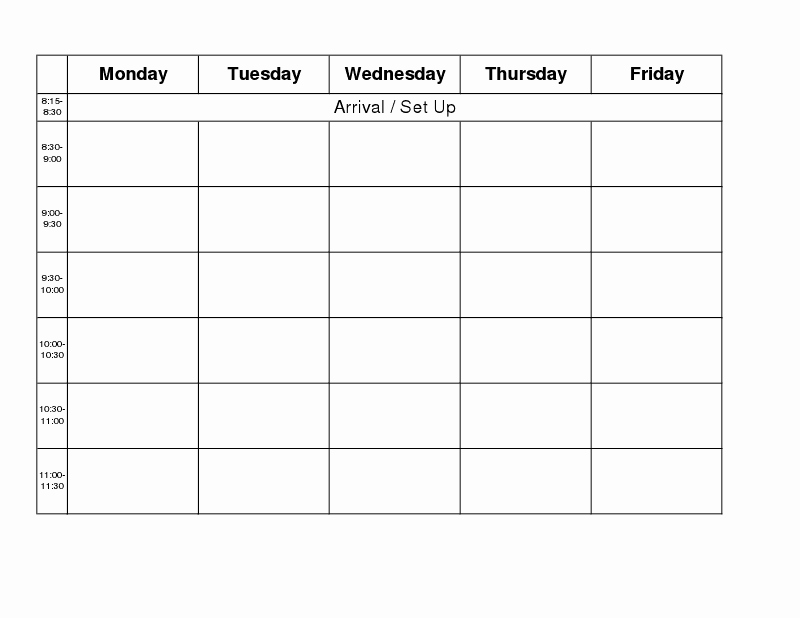 Monday to Friday Schedule Template Unique Carrie S Speech Corner Back to School Week Getting