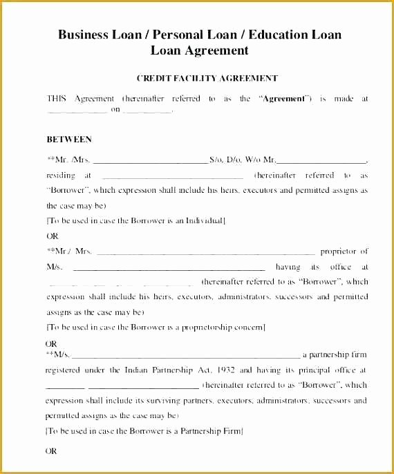Money Loan Contract Template Best Of Car Loan Agreement Template Word Personal Download Lending