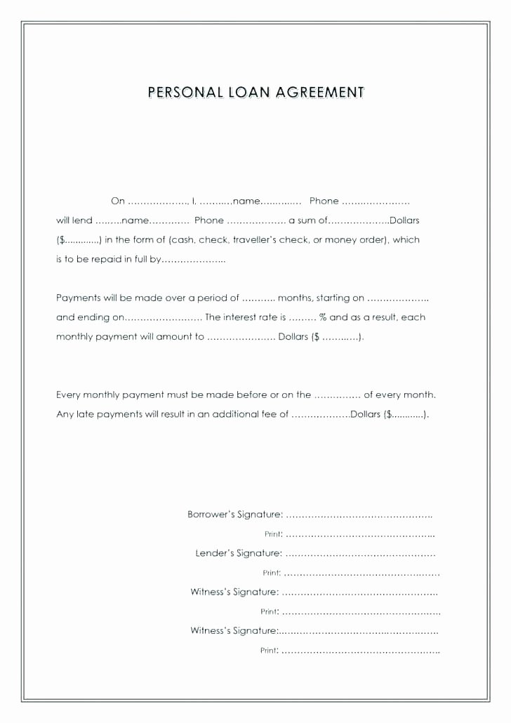 Money Loan Contract Template Free Beautiful Employment Verification forms Template Informal Loan