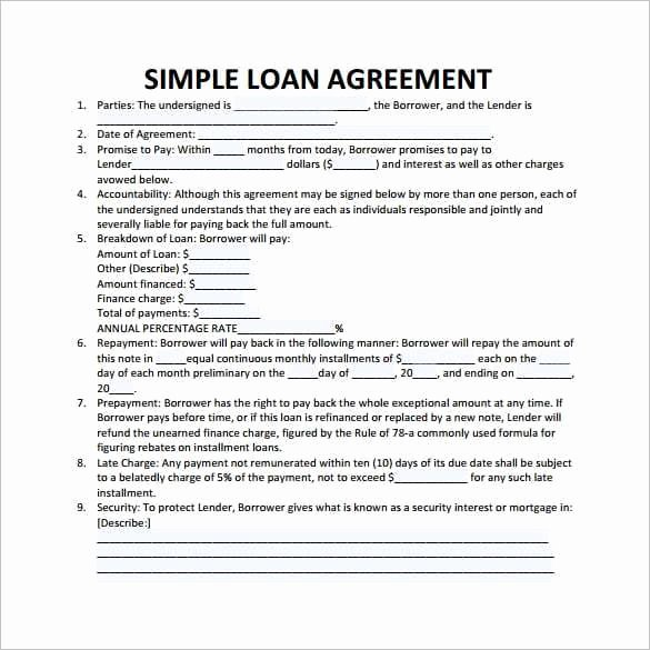 Money Loan Contract Template Free Luxury 20 Loan Agreement Templates Word Excel Pdf formats