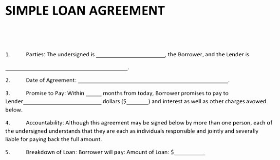Money Loan Contract Template Free New 10 Lending Money Contract Template Ziity