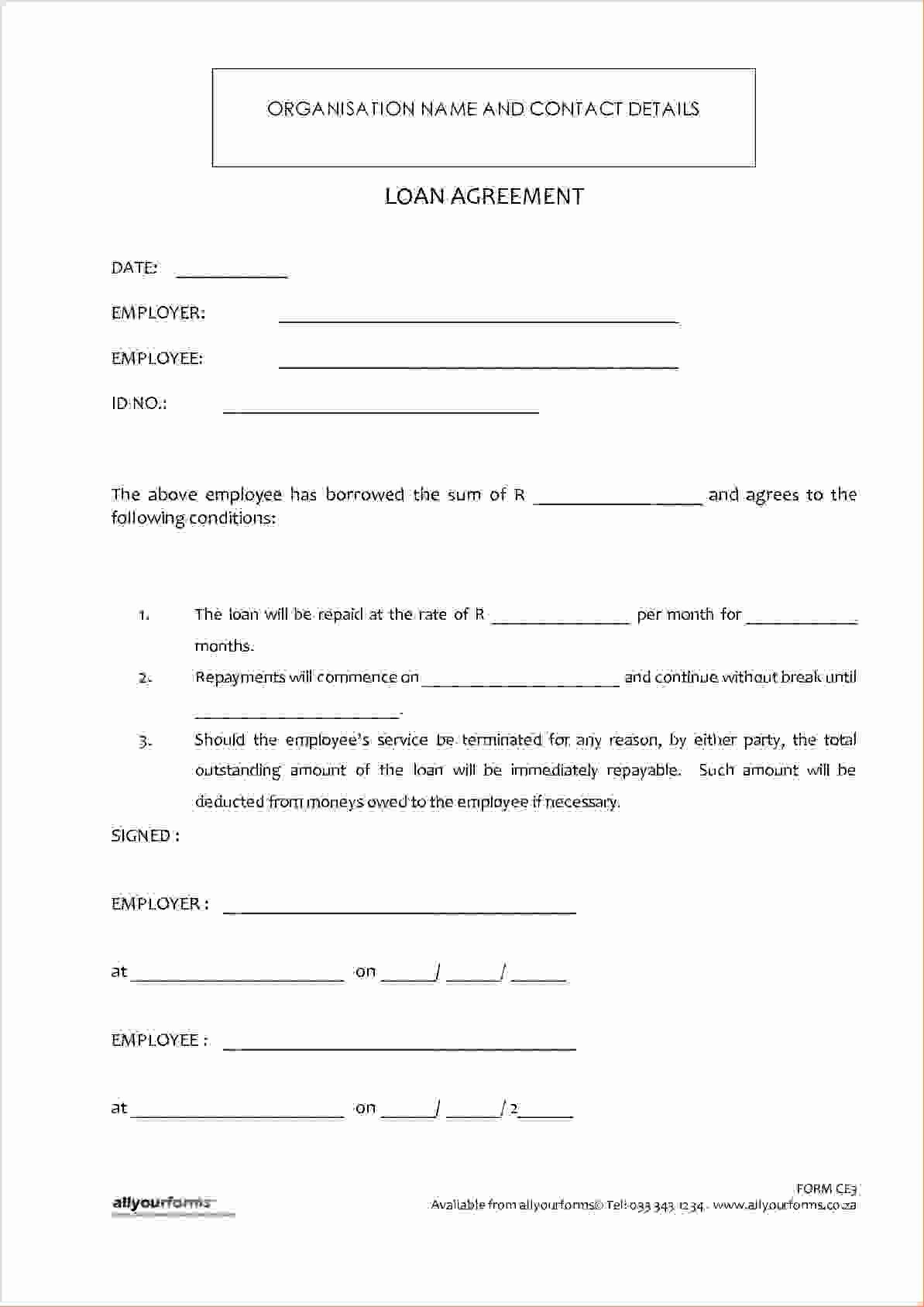 Money Loan Contract Template Luxury 4 Money Loan Contractreport Template Document