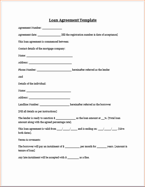 Money Loan Contract Template Unique 4 Money Loan Contractreport Template Document