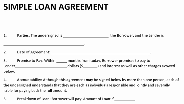 Money Loan Contract Template Unique Loan Agreement Template