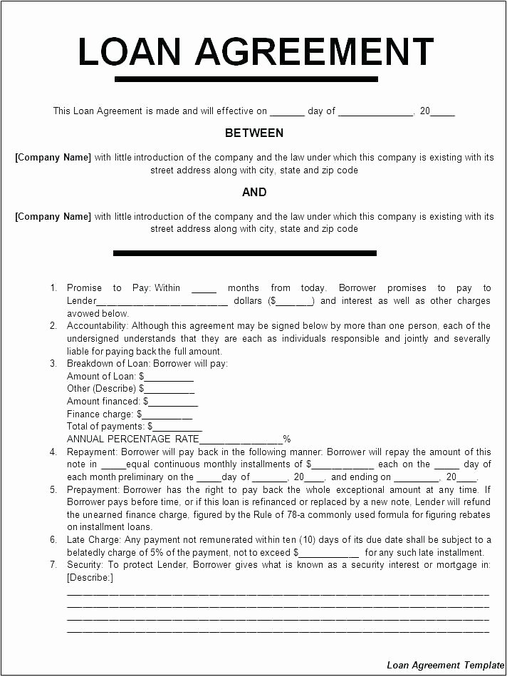Money Loan Contract Template Unique Money Contract Template Loan Agreement Free New Hard