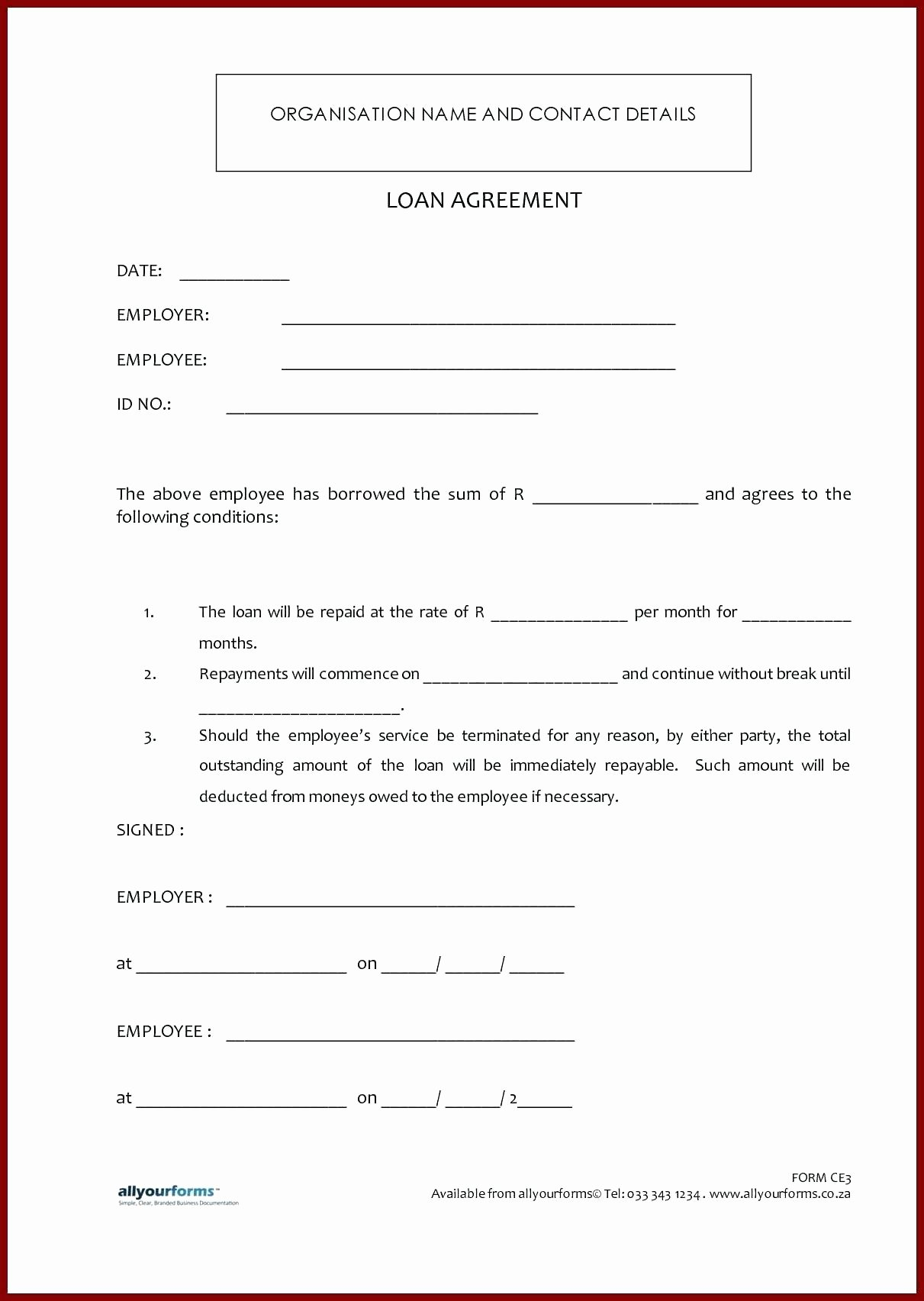 Money Loan Contract Template Unique Template Money Agreement Template
