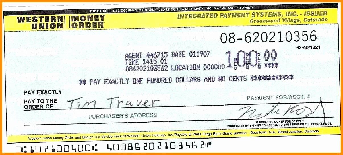 Money order Receipt Template New Blank Money order Template Flexible See Addition Western