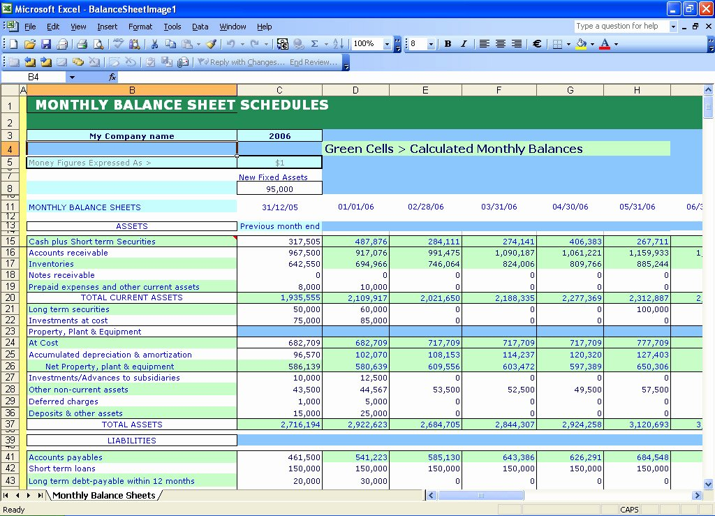 Monthly Balance Sheet Excel Template Beautiful Excel Templates Self Calculating Balance Sheets