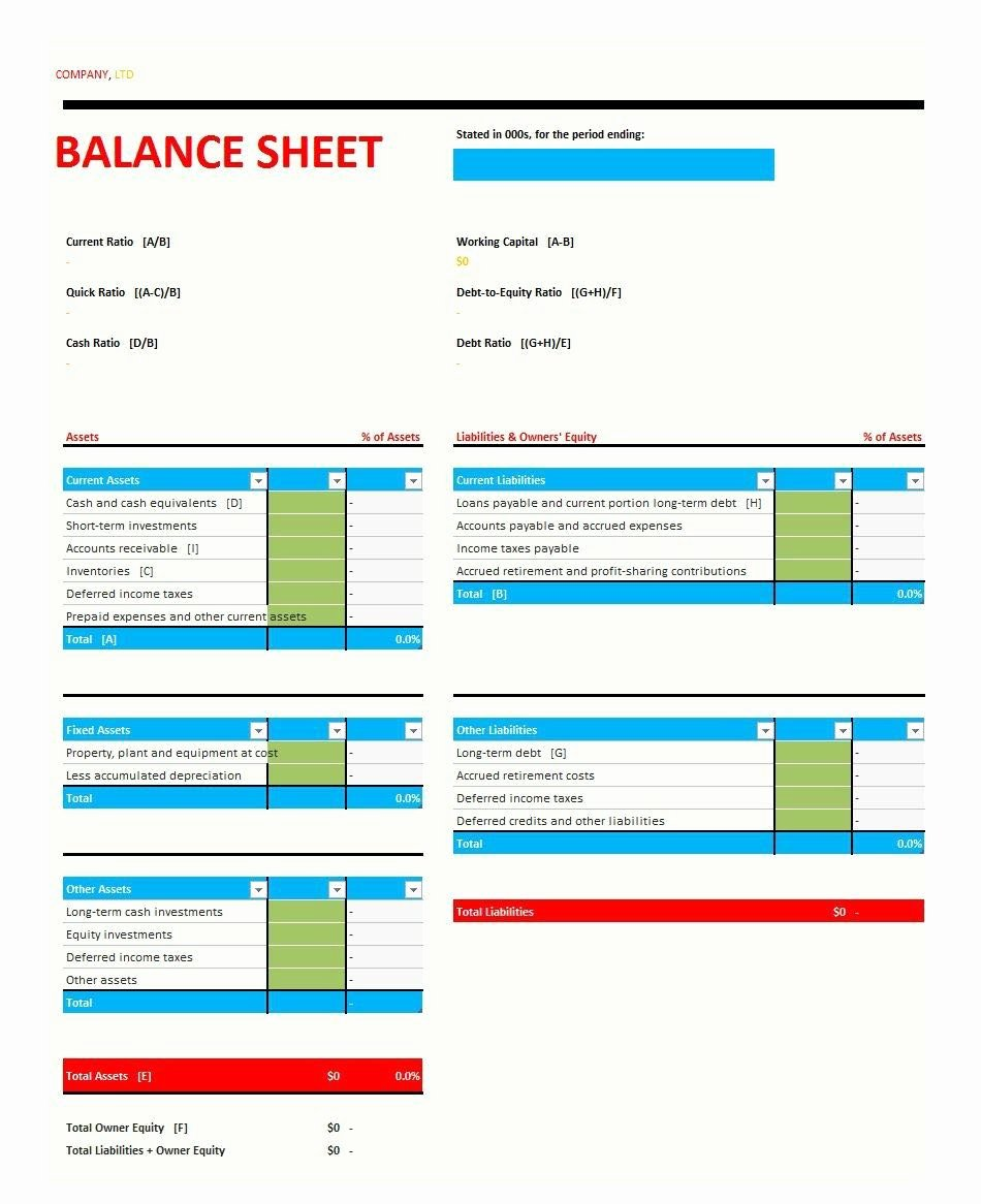 Monthly Balance Sheet Excel Template Best Of Monthly Balance Sheet Excel Template La Portalen