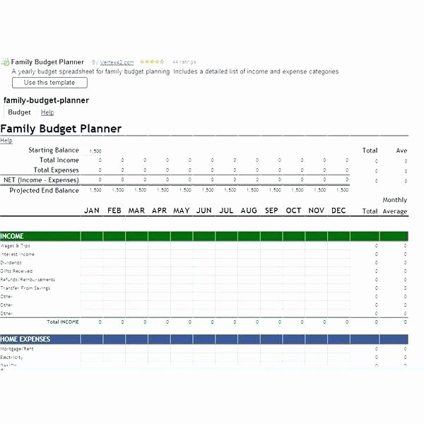 Monthly Balance Sheet Excel Template New Family Expenses Spreadsheet Template Free Bills Excel